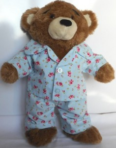 PJs for sale in our online shop. Also available in pink.