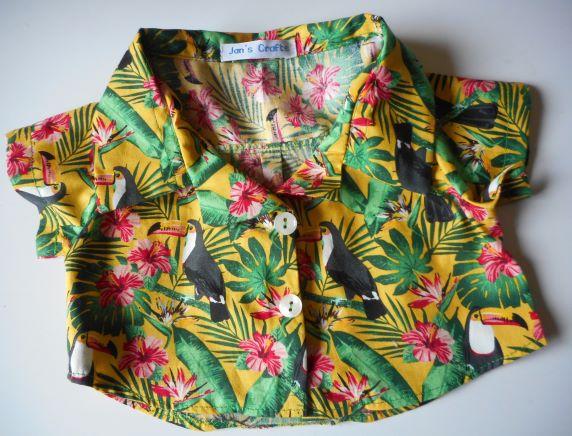 Toucan print shirt bear